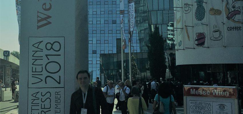 Dr. Günther no Congresso Europeu de Retina, em Viena, na Áustria.